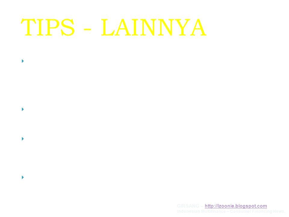 TIPS - LAINNYA