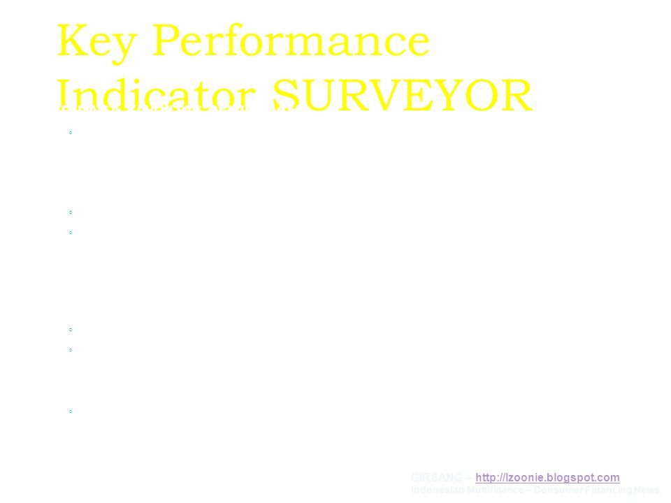 Key Performance Indicator SURVEYOR