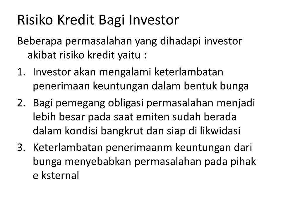 Risiko Kredit Bagi Investor