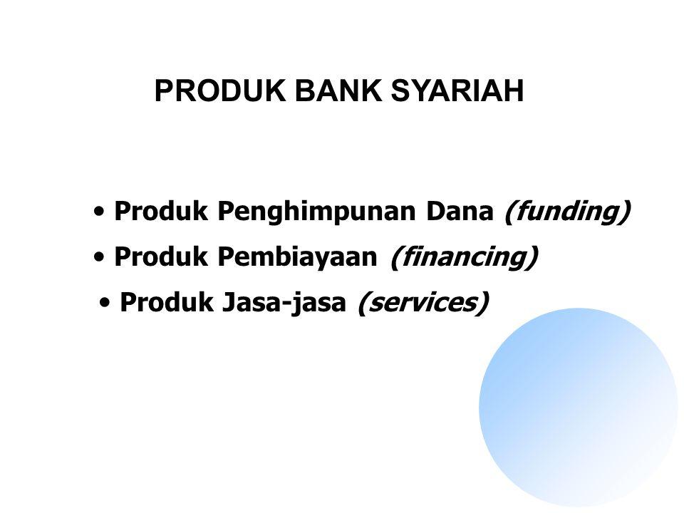 PRODUK BANK SYARIAH Produk Penghimpunan Dana (funding)