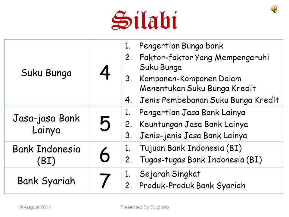 Silabi 4 5 6 7 Suku Bunga Jasa-jasa Bank Lainya Bank Indonesia (BI)