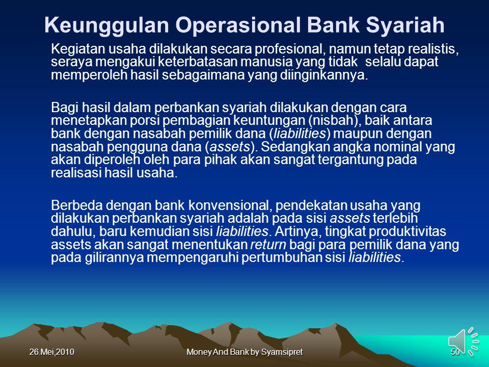 Keunggulan Operasional Bank Syariah