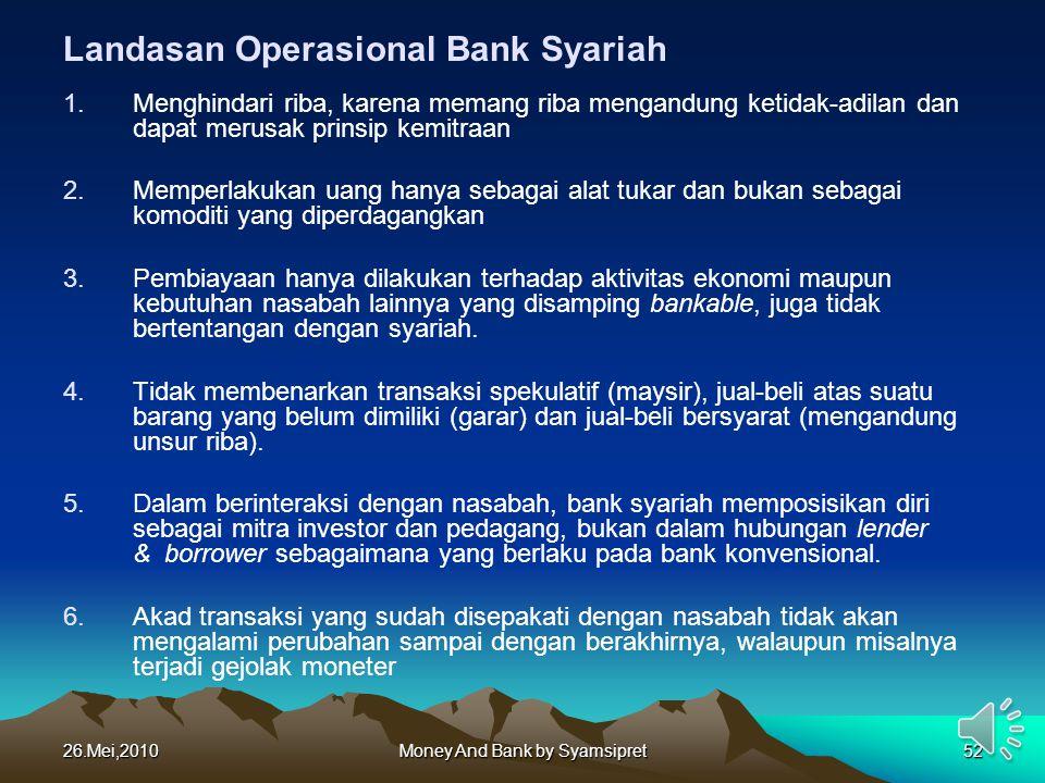 Landasan Operasional Bank Syariah
