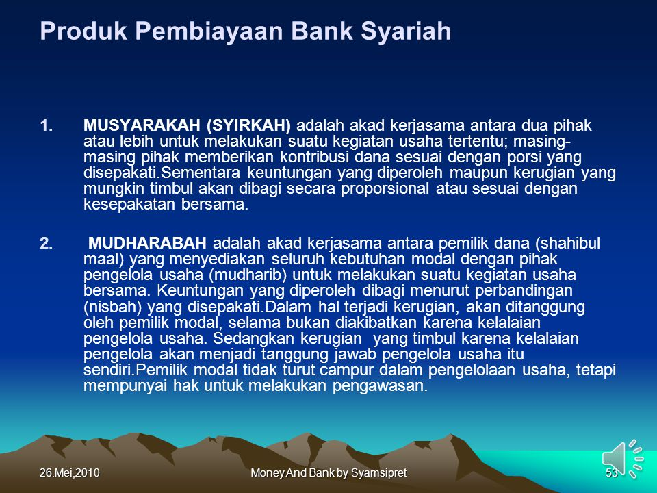 Produk Pembiayaan Bank Syariah