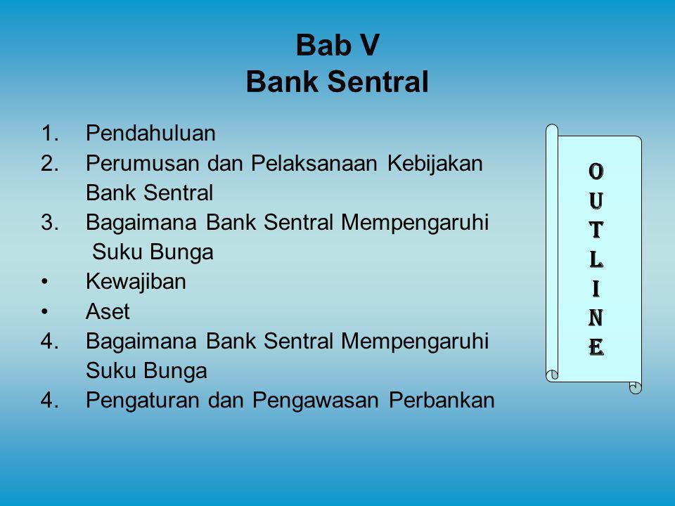 Bab V Bank Sentral O U T L I N E Pendahuluan