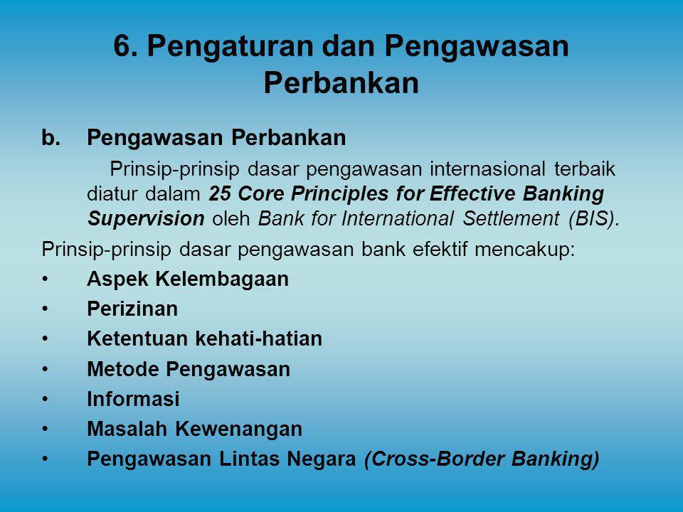 6. Pengaturan dan Pengawasan Perbankan