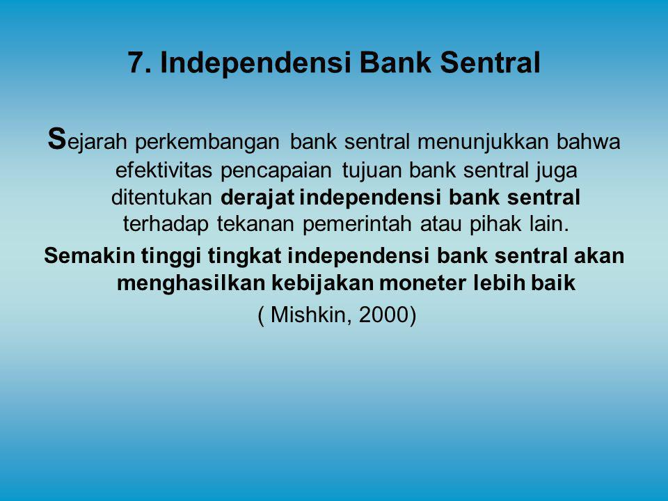 7. Independensi Bank Sentral