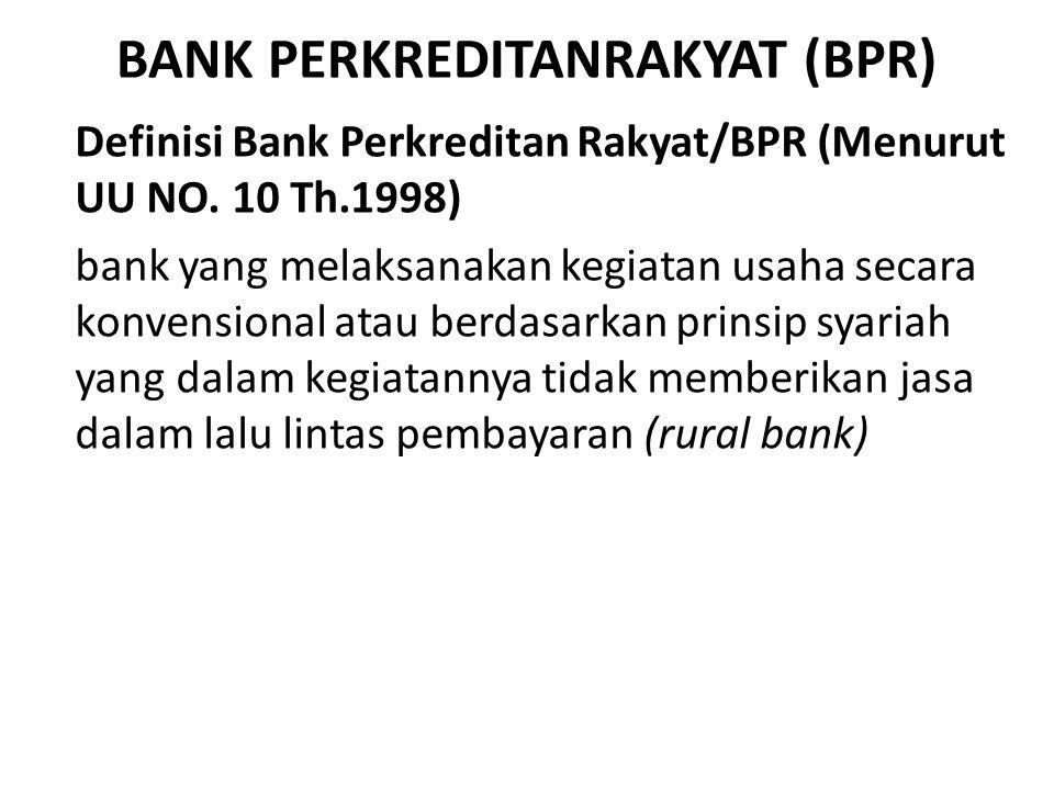 BANK PERKREDITANRAKYAT (BPR)