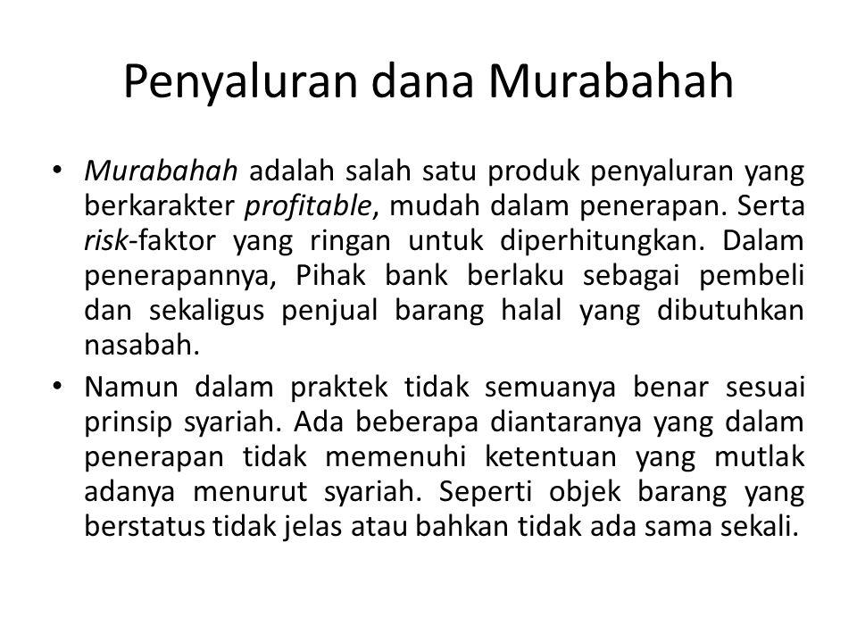 Penyaluran dana Murabahah