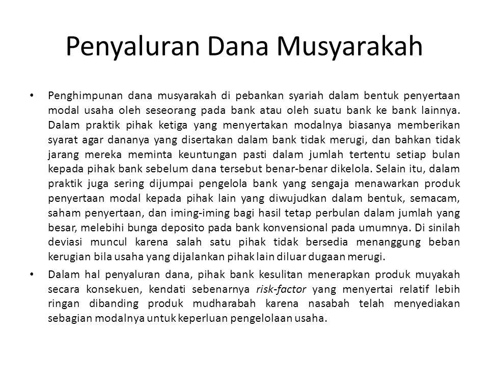 Penyaluran Dana Musyarakah