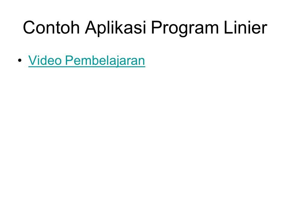 Contoh Aplikasi Program Linier
