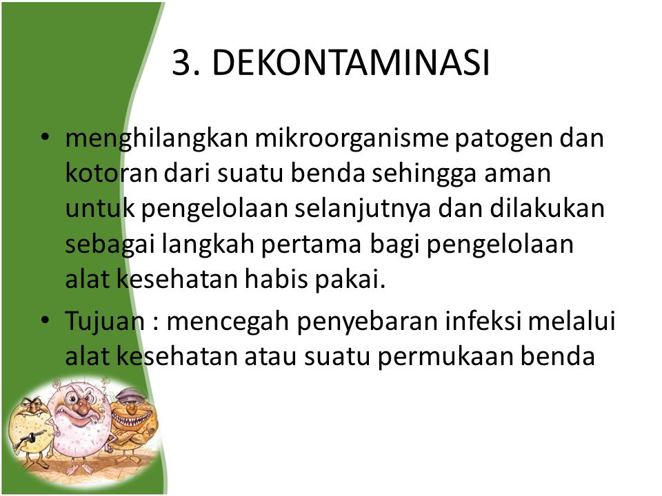 3. DEKONTAMINASI