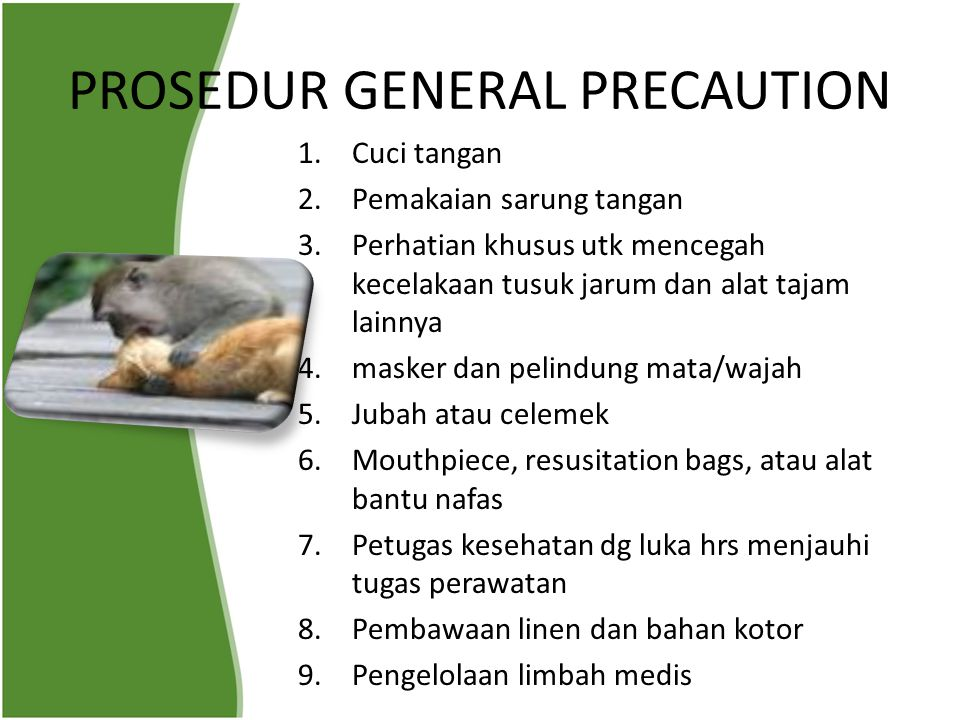 PROSEDUR GENERAL PRECAUTION