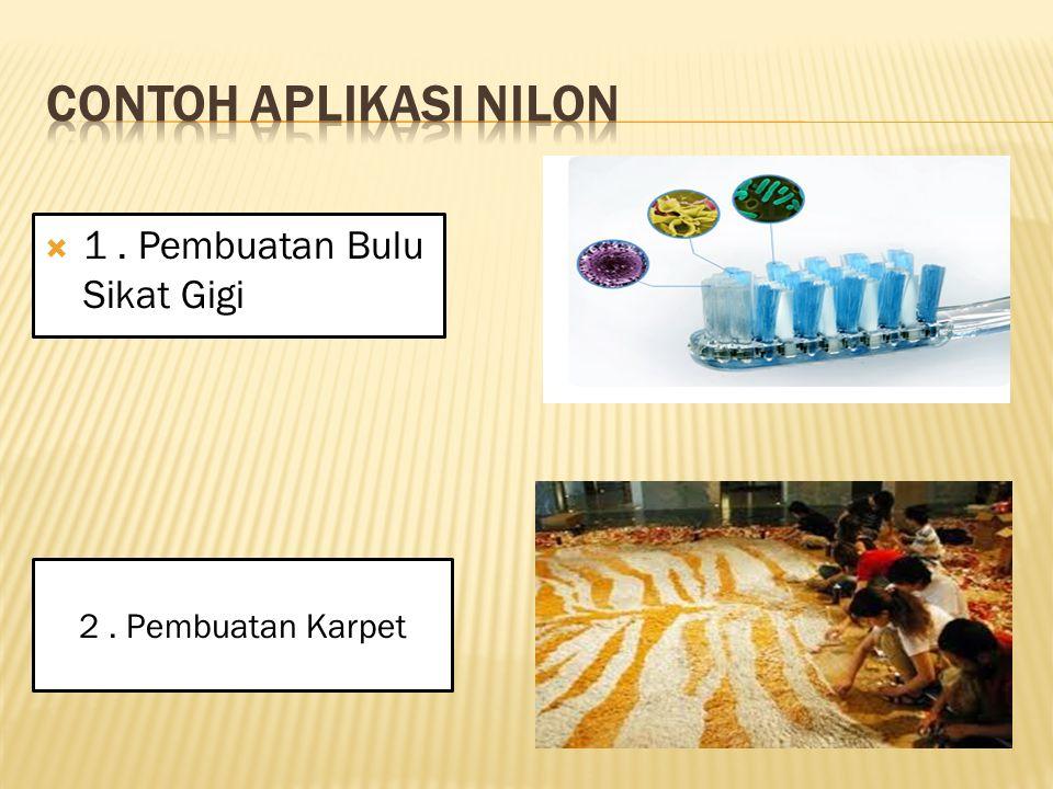 Contoh aplikasi Nilon 1 . Pembuatan Bulu Sikat Gigi