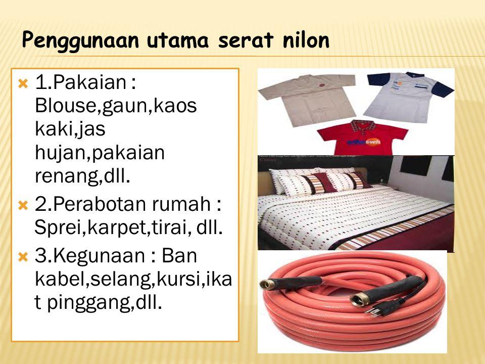 Penggunaan utama serat nilon