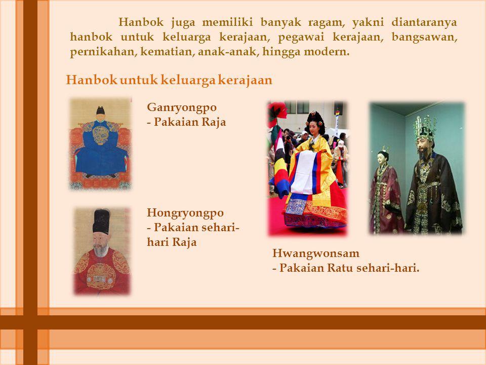 Hanbok untuk keluarga kerajaan