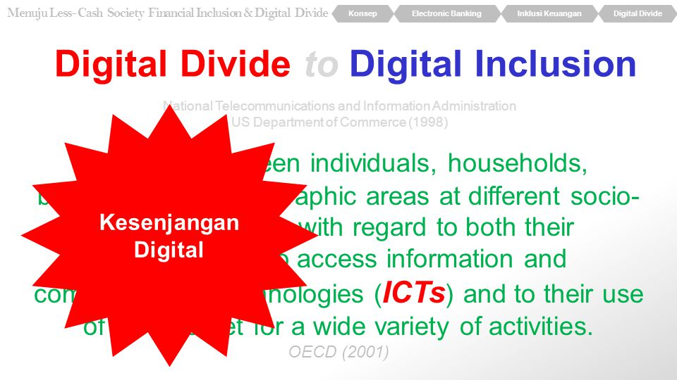 Digital Divide to Digital Inclusion