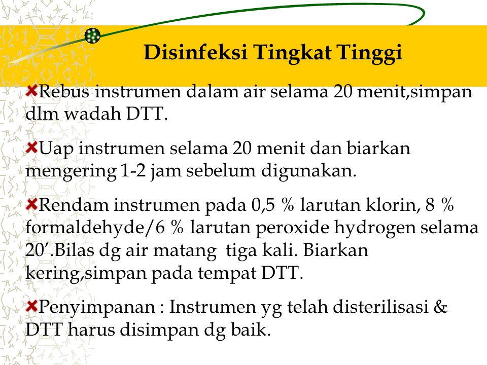Disinfeksi Tingkat Tinggi