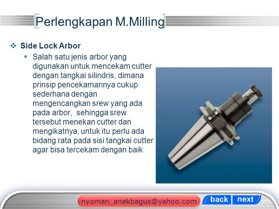 Perlengkapan M.Milling