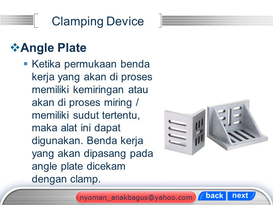 Clamping Device Angle Plate