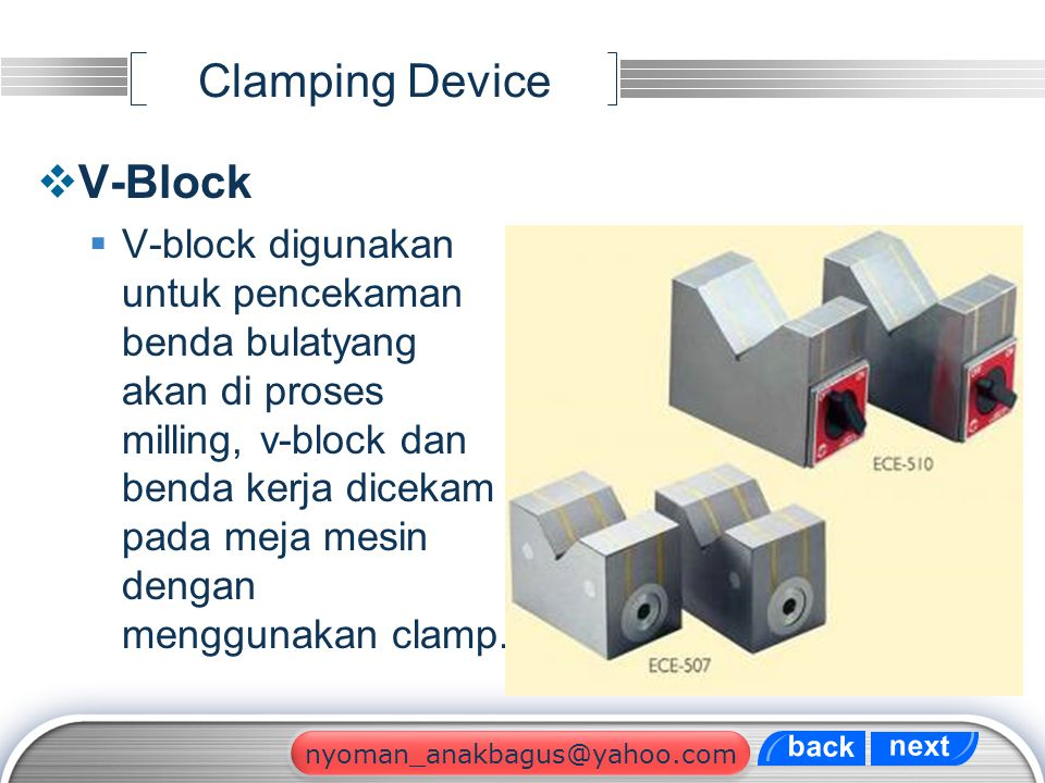 Clamping Device V-Block