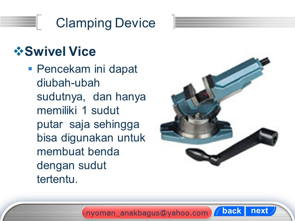 Clamping Device Swivel Vice