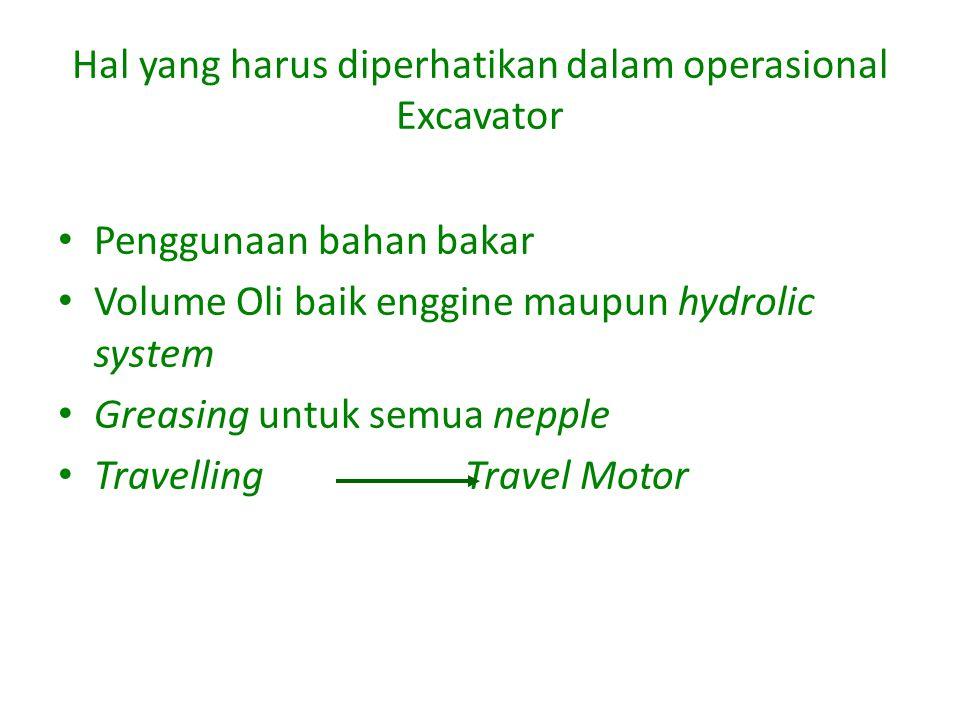 Hal yang harus diperhatikan dalam operasional Excavator
