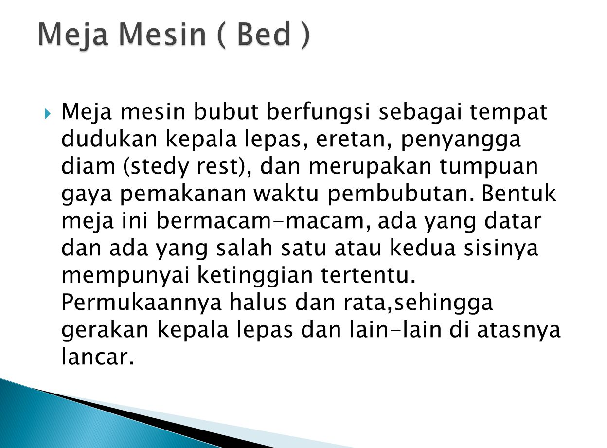 Meja Mesin ( Bed )
