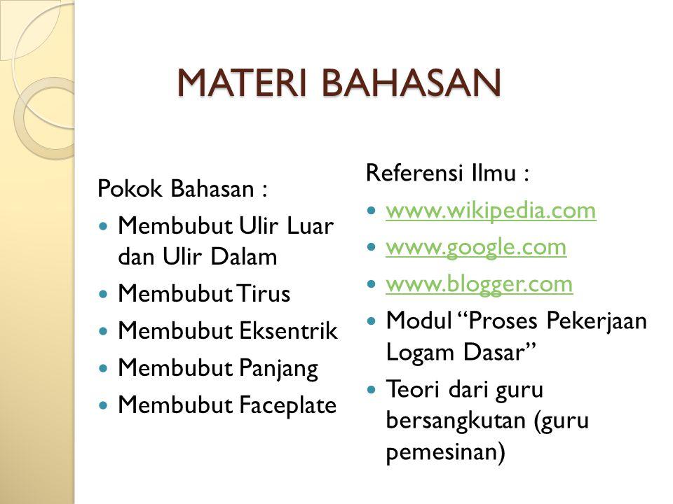 MATERI BAHASAN Referensi Ilmu : Pokok Bahasan : www.wikipedia.com
