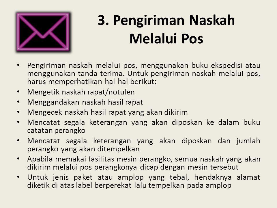 3. Pengiriman Naskah Melalui Pos