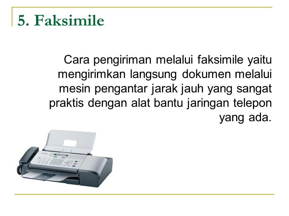 5. Faksimile