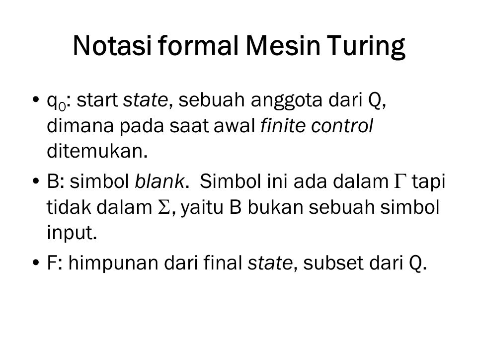 Notasi formal Mesin Turing