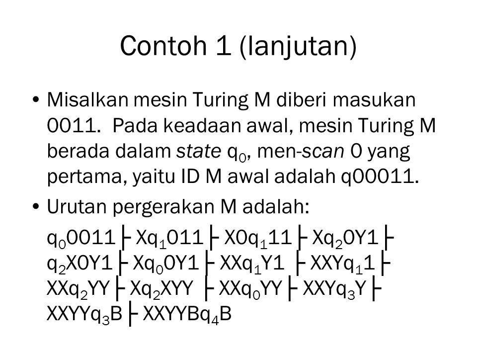 Contoh 1 (lanjutan)