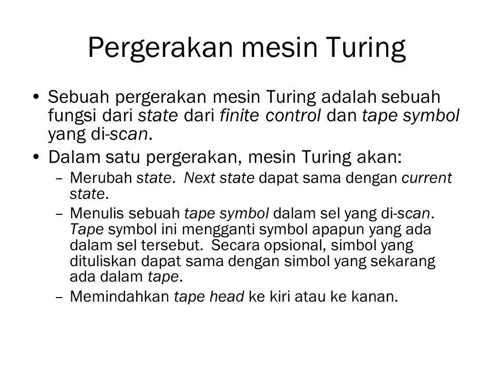 Pergerakan mesin Turing