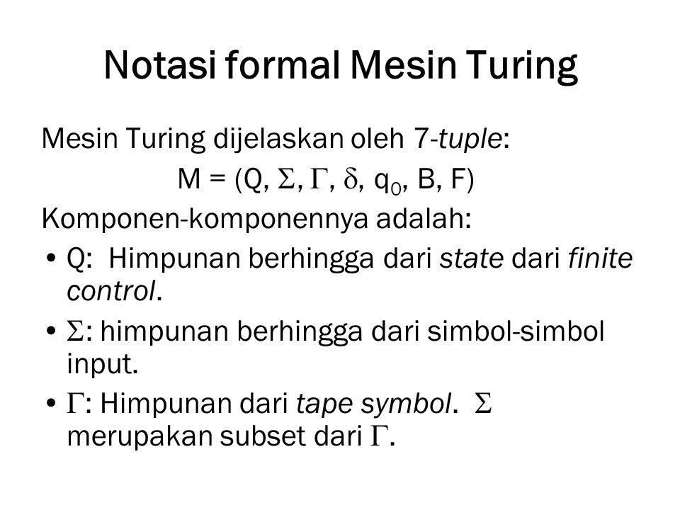 Notasi formal Mesin Turing