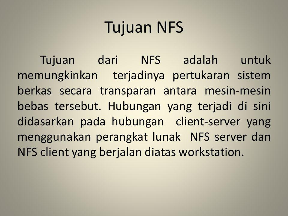 Tujuan NFS