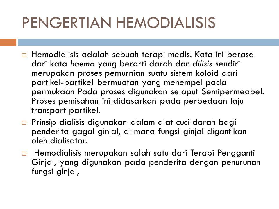 PENGERTIAN HEMODIALISIS