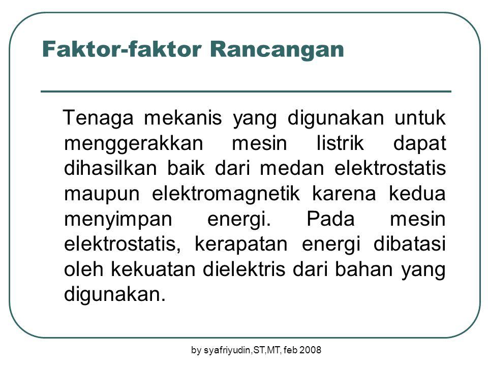 Faktor-faktor Rancangan