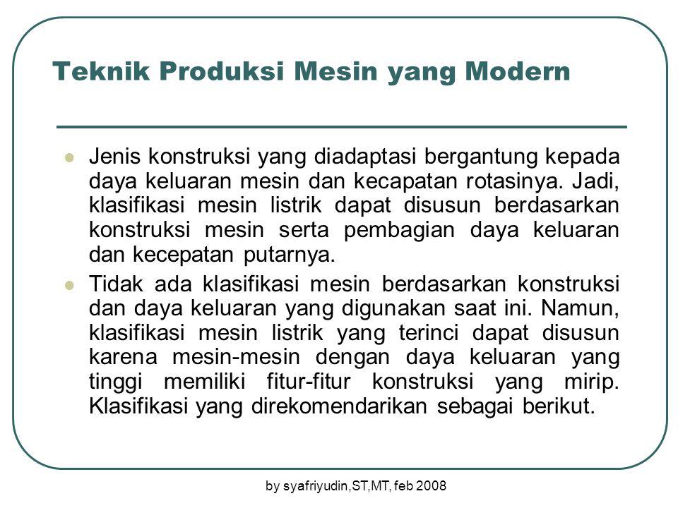 Teknik Produksi Mesin yang Modern