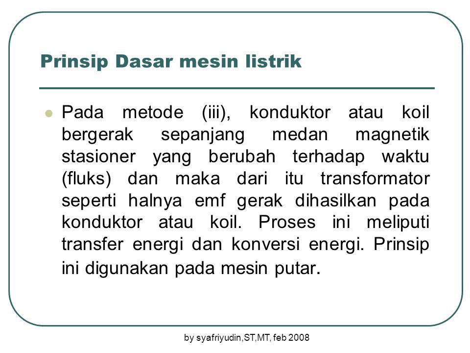 Prinsip Dasar mesin listrik