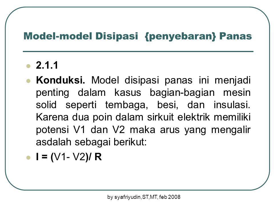 Model-model Disipasi {penyebaran} Panas