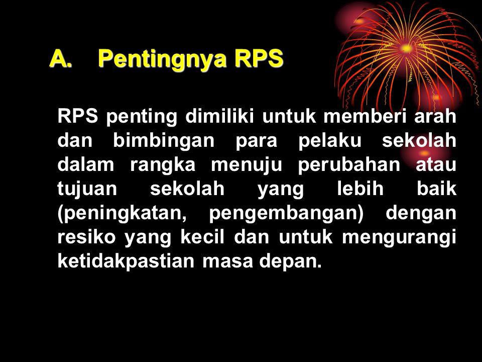 A. Pentingnya RPS