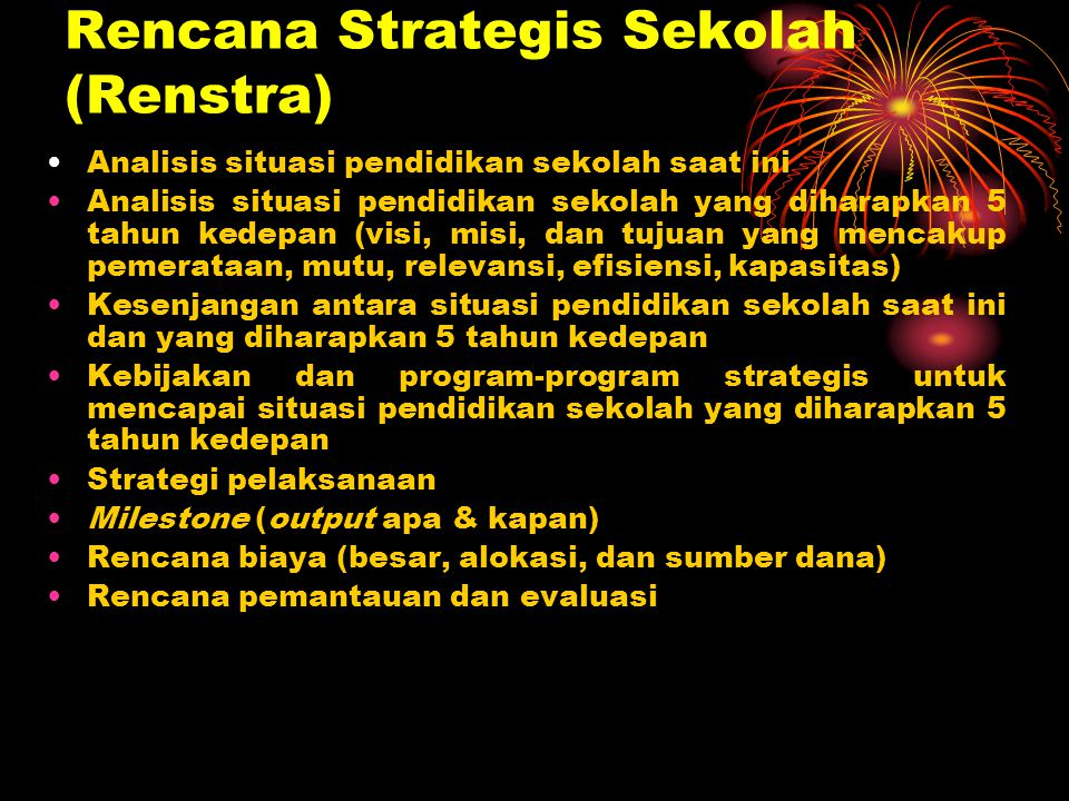 Rencana Strategis Sekolah (Renstra)