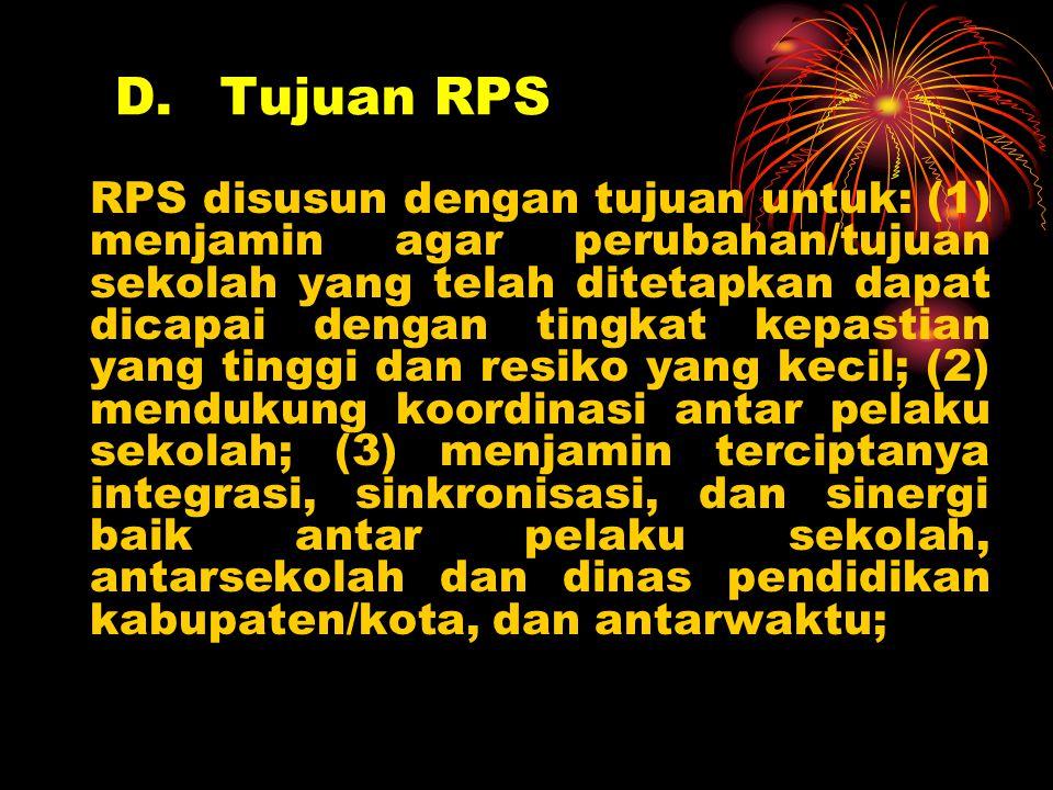 D. Tujuan RPS