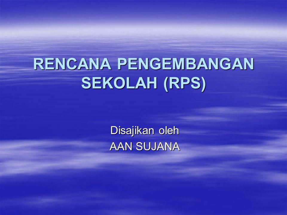RENCANA PENGEMBANGAN SEKOLAH (RPS)