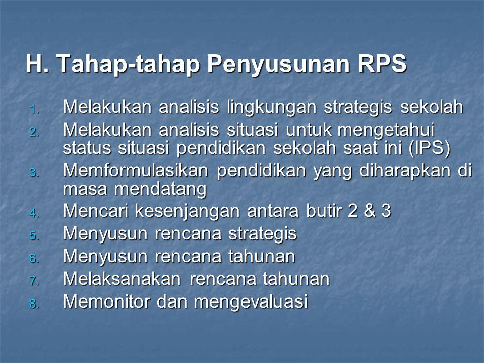 H. Tahap-tahap Penyusunan RPS