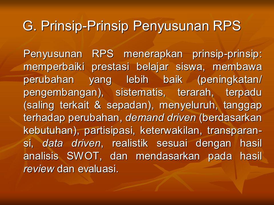 G. Prinsip-Prinsip Penyusunan RPS