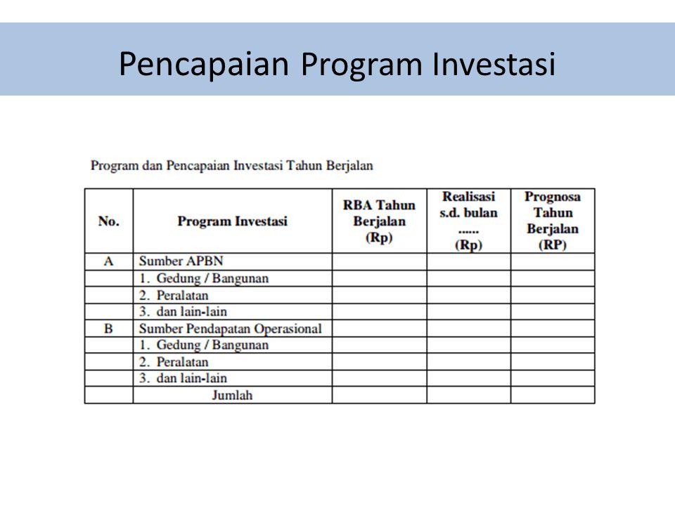 Pencapaian Program Investasi