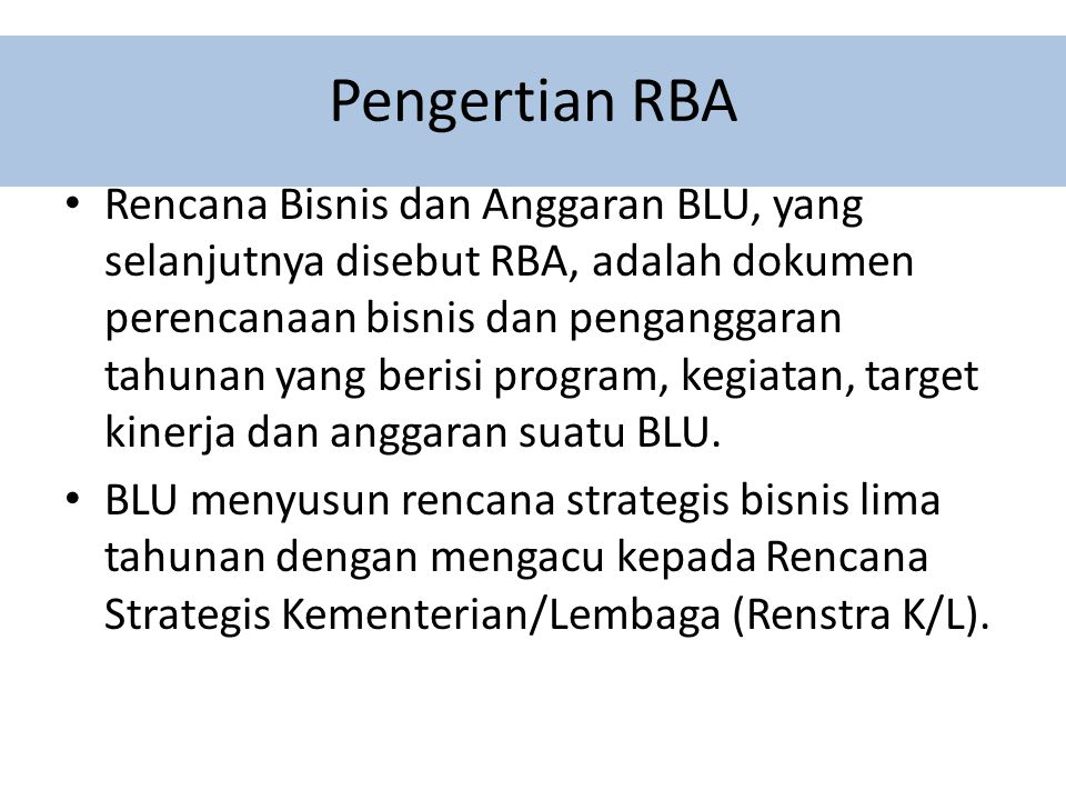 Pengertian RBA