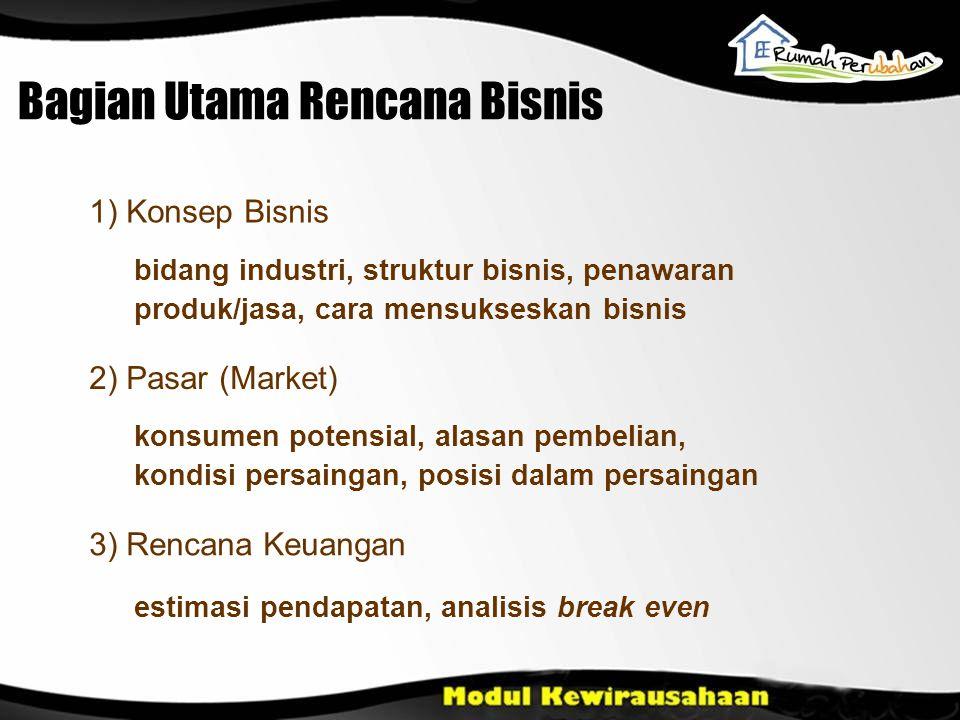 Bagian Utama Rencana Bisnis